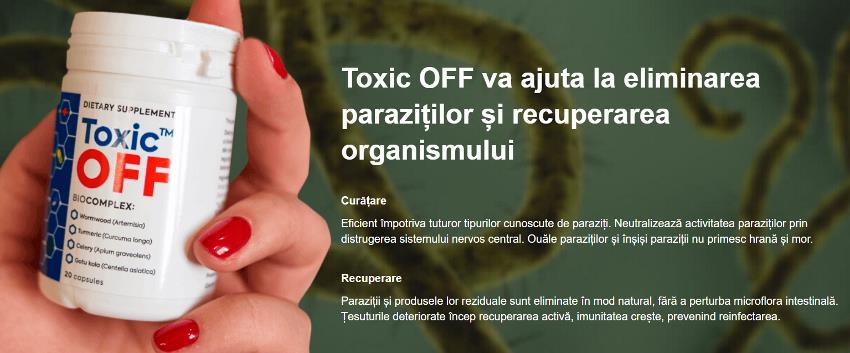 Toxic Off capsule pentru paraziti intestinali, ingrediente, Romania